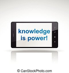 knowledge is power words on mobile phone