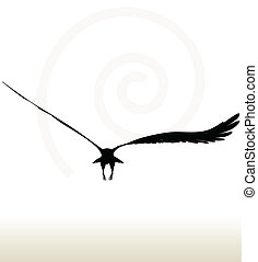 eagle silhouette - illustration of eagle silhouette isolated...