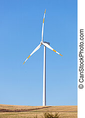 Wind Turbines - Wind turbines in operation in the summer...