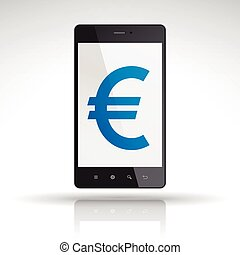 euro symbol on mobile phone