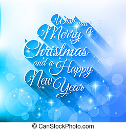 2015 Merry Christmas and happy new year background with a...