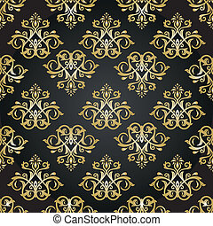 Orient Seamless Vector Pattern. Abstract Background -...
