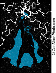 Thor - Vector illustration of Scandinavian god Thor in 3...