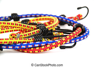 Bungee cords - Stock pictures of bungee cords with steel...