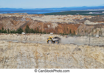 Dump Truck - Open-pit Mine with Dump Truck