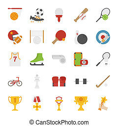 Sport icons , flat design , eps10 vector format