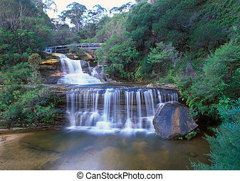 Wentworth Falls Detail Blue Mountains World Heritage...