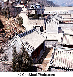 ancient chinese stone village (Beijing, China) - ancient...