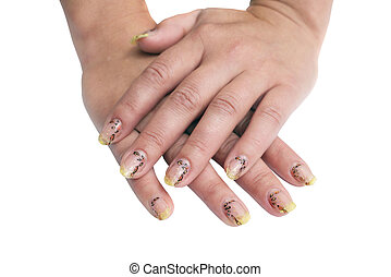 Manicure figure. An isolated object on a white background.