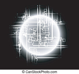 Abstract black background global