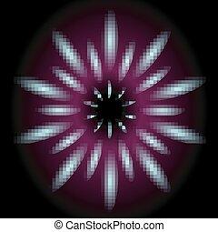 Abstract dark purple lights