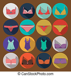 Underwear design over brown background,vector illustration