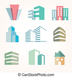 Building real state icons set