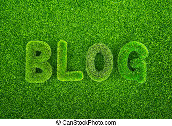 Grass blog word