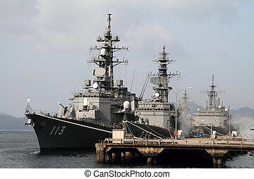 Naval port in Kure, Japan