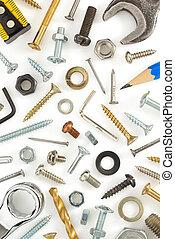 hardware tools on white - hardware tools isolated on white...