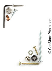 hardware tools on white - hardware tools isolated on white...
