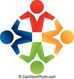 Logo business partners icon concept