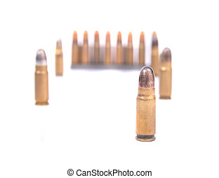 ammo - gun ammo isolated on the white background