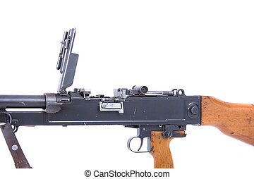 automatic gun isolated on the white background