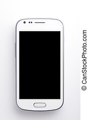 White Smart phone - High resolution image of white cellphone