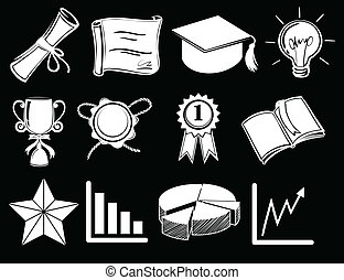 Different things showing success - Illustration of the...