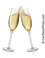 champaña, Flautas, brindar,