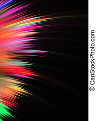 Rainbow Fractal Feathers - Abstract fractal artwork that...