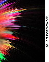 Rainbow Fractal Feathers