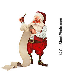 Santa Claus and the list of gifts