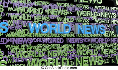 World news title - World News title background looping text
