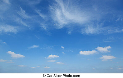 Clouds against the blue sky