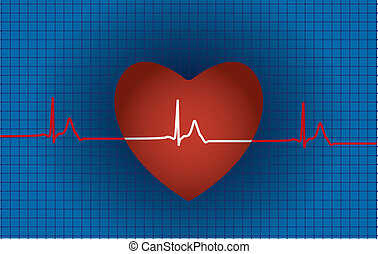 Concept of medical problem with heart