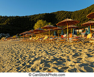 Golden beach - Photo of the golden beach in Thassos Panagia...