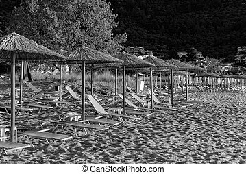 Golden beach - Photo of the golden beach in Thassos Panagia...