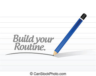 build your routine illustration design over a white...