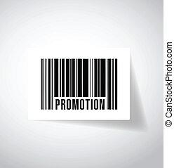 promotion bar code illustration design