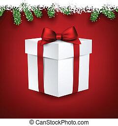 Fir and snow christmas frame. - Detailed fir frame with 3d...