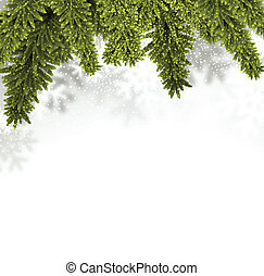 Fir christmas background - Christmas background with fir and...