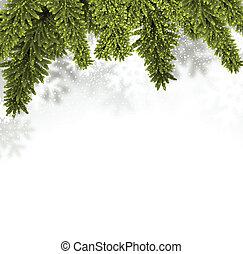 Fir christmas background. - Christmas background with fir...