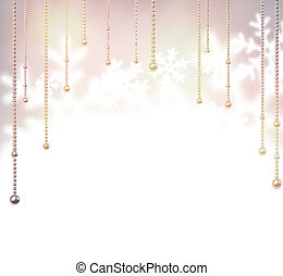 Blurred christmas background. - Blurred winter background...
