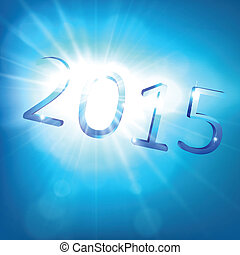 Happy new year 2015. - 3d blue 2015 happy new year design....