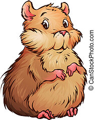 Vector illustration of hamster in cartoon style on...