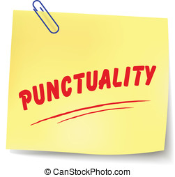 Vector punctuality message - Vector illustration of...