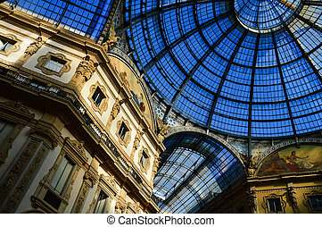 Galleria Vittorio Emanuele II in central of Milan, Italy