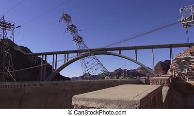 Hoover Dam - Footage of the facilities at the Hoover Dam