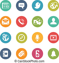 Social Icons -- Fresh Colors Series - Icons and buttons in...