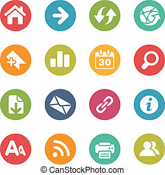 Surf the Net Icons -- Fresh Colors