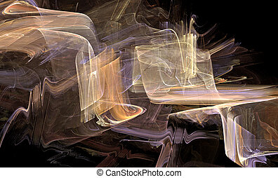 Ribbons of light - Fractal ribbons of light on dark...