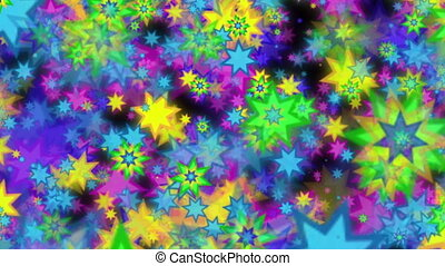 Multi colored stars background